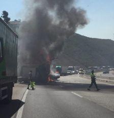 Accident a l'autovia A2