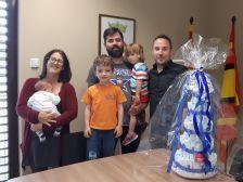 L'Alcalde amb la família Viadiu Culebras